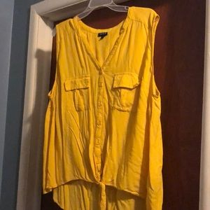 Yellow button up tank